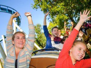 Fun family ride at Asterix Park