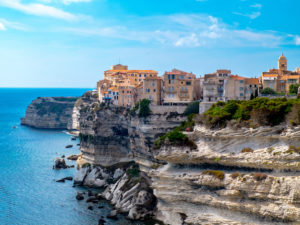 Corsica - View of Bonifacio from the cliffs